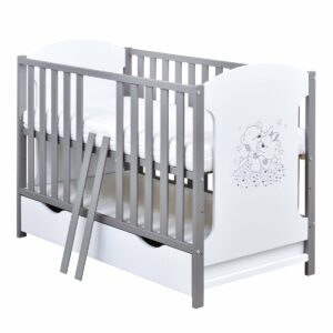 Babybett Micky grau weiß