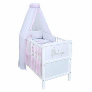 Babybett Princess Gravur weiß