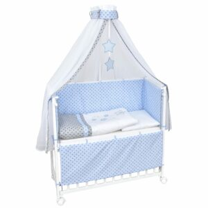 Beistellbett set Magic Stars Blau