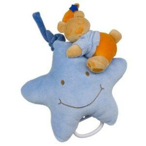 Spieluhr Stern Teddy blau
