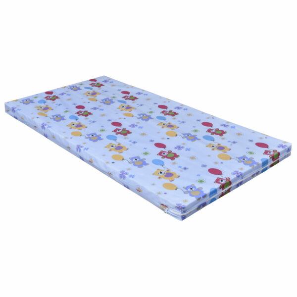 Matratze Schaumstoff 140x70 cm Teddy blau