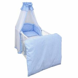 Bettset 4-tlg Karo blau