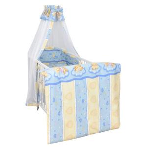 Bettset 4-tlg Kuschelbär blau