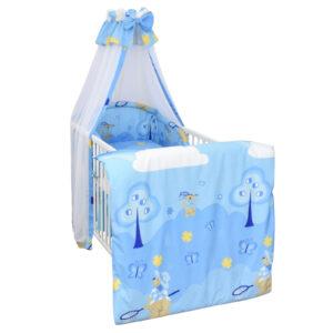 Bettset 4-tlg Schmetterling blau