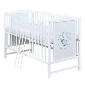 Babybett Mila weiß 120x60 cm
